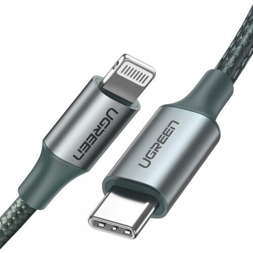 Ugreen USB C to Lightning Fast Charging Cable - Midnight Green - 1M
