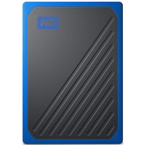 WD My Passport Go External Solid State Drive - Blue - 2TB
