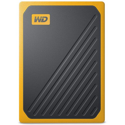 WD My Passport Go External Solid State Drive - Amber - 2TB