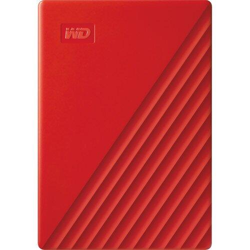WD My Passport Portable External Hard Drive - 2TB - Red