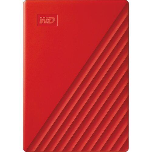 WD My Passport Portable External Hard Drive - 4TB - Red