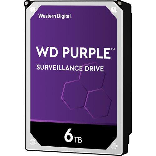 WD Purple Surveillance Internal Hard Drive - 6TB - 5400RPM - 64MB