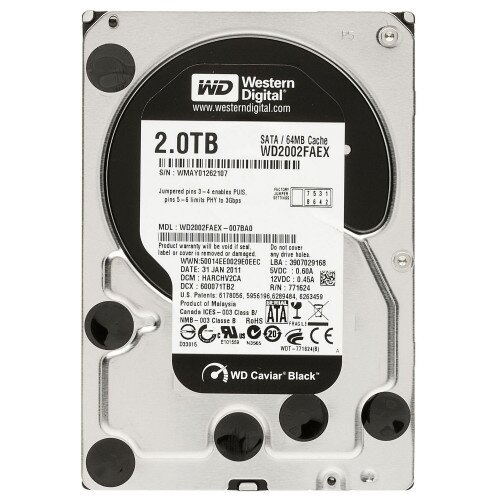 WD Black Desktop Internal Hard Drive - 2TB - 7200 RPM