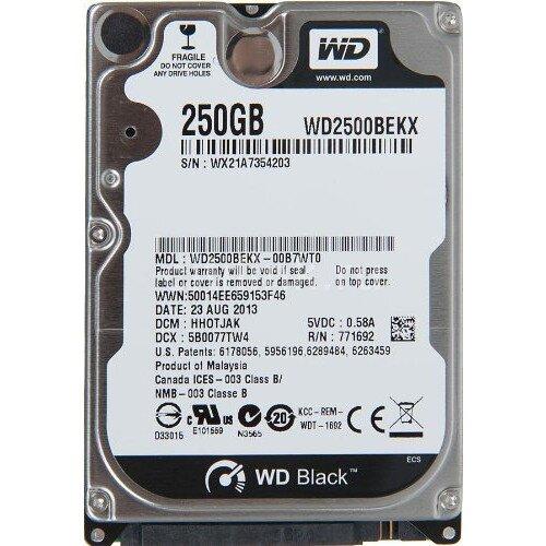 WD Black Mobile Internal Hard Drive - 250GB