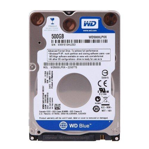 WD Blue Mobile Internal Hard Drive - 500GB - 5400 RPM