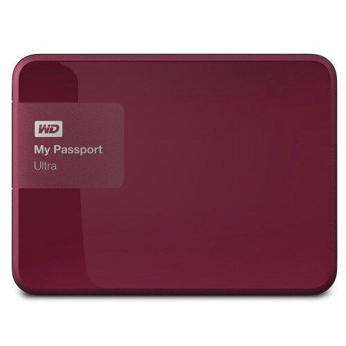 WD My Passport Ultra Portable External Hard Drive - Wild Berry - 1TB