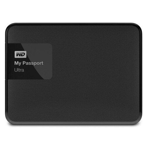 WD My Passport Ultra Portable External Hard Drive - Classic Black - 1TB