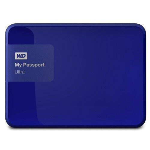 WD My Passport Ultra Portable External Hard Drive - Noble Blue - 1TB