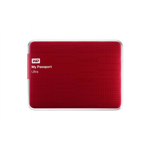 WD My Passport Ultra Portable External Hard Drive - Red - 2TB