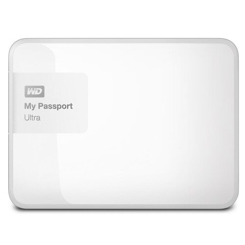 WD My Passport Ultra Portable External Hard Drive - Brilliant White - 1TB