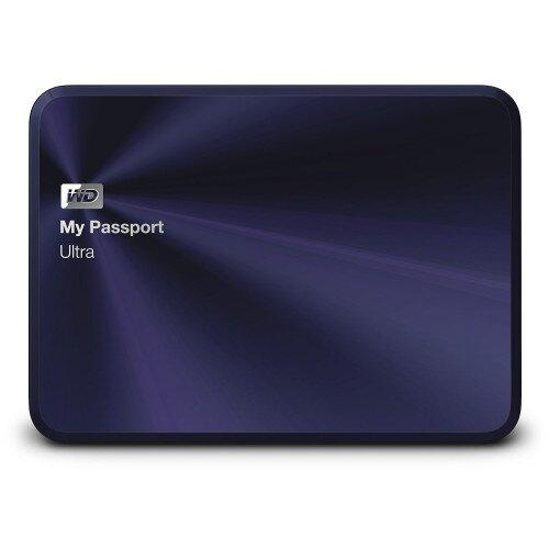WD My Passport Ultra Metal Edition Portable External Hard Drive - Blue / Black - 3TB