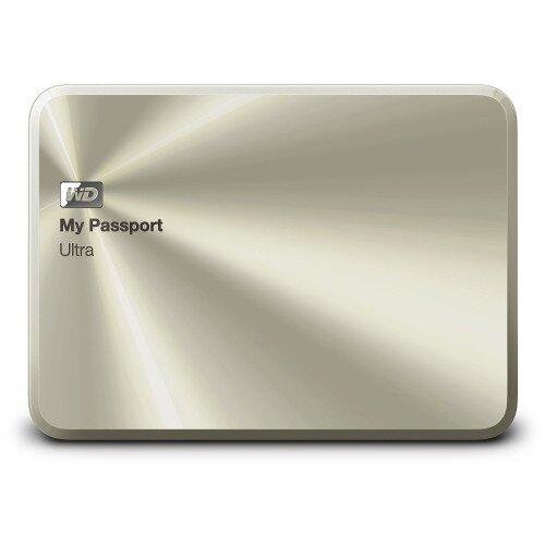 WD My Passport Ultra Metal Edition Portable External Hard Drive - Gold - 2TB