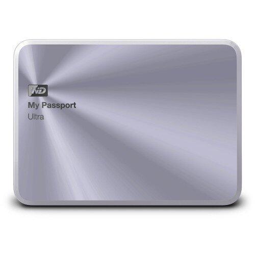 WD My Passport Ultra Metal Edition Portable External Hard Drive - Silver - 1TB