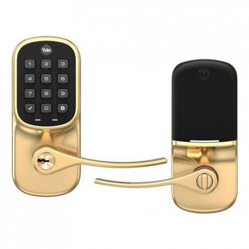 Yale Assure Lever Keypad - Z-Wave Plus - Polished Brass