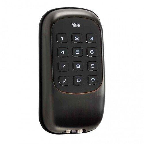 Yale Key Free Push Button Deadbolt B1L - Oil Rubbed Bronze