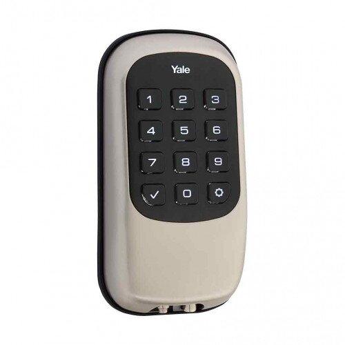 Yale Key Free Push Button Deadbolt B1L - Satin Nickel