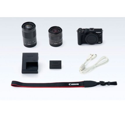Canon EOS M3 EF-M 18-55mm IS STM & EF-M 55-200mm STM Lens Kit Mirrorles Camera