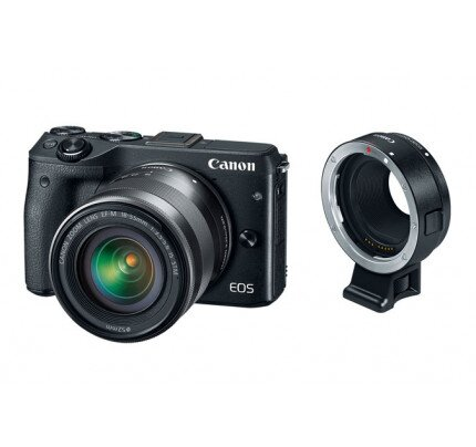Canon EOS M3 EF-M 18-55mm IS STM + Mount Adapter EF-EOS M Kit