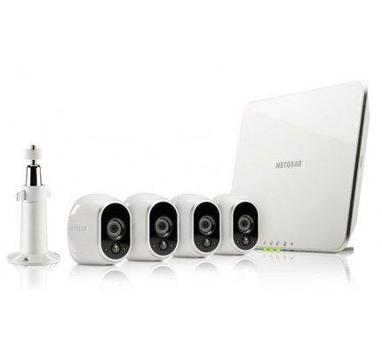 Netgear Arlo Smart Security System with 4 Arlo Cameras