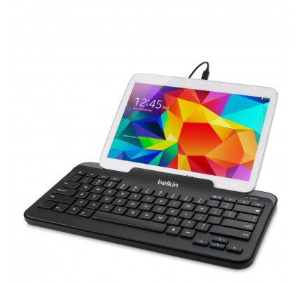 Belkin Wired Tablet Keyboard w/ Stand for Tablets (Micro-USB Connector)