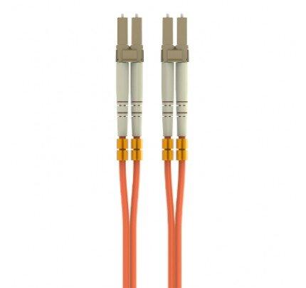 Belkin Fiber Optic Cable; Orange Multimode LC/LC Duplex, 50/125 OM2