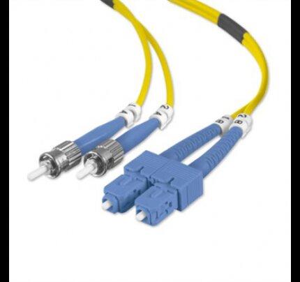 Belkin Fiber Optic Cable; Singlemode ST/SC Duplex, 8.3/125