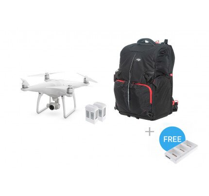 DJI Phantom 4 + Two Extra Batteries + Phantom Backpack + Battery Charging Hub