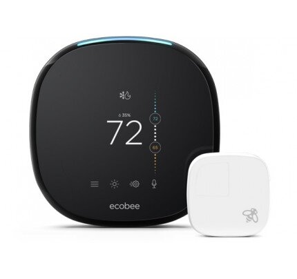ecobee4 Voice-Enabled Smart Thermostat With Room Sensors