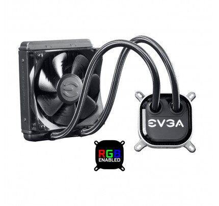 EVGA CLC 120 Liquid / Water CPU Cooler, RGB LED Cooling