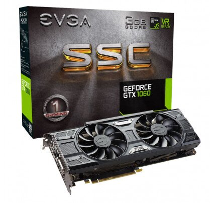 EVGA GeForce GTX 1060 SSC Gaming, 3GB GDDR5, ACX 3.0 & LED Graphics Card