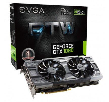 EVGA GeForce GTX 1080 FTW Gaming, 8GB GDDR5X, ACX 3.0 & RGB LED Graphics Card