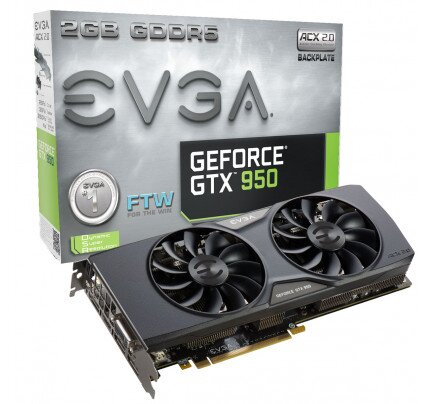 EVGA GeForce GTX 950 FTW Gaming ACX 2.0 Graphics Card
