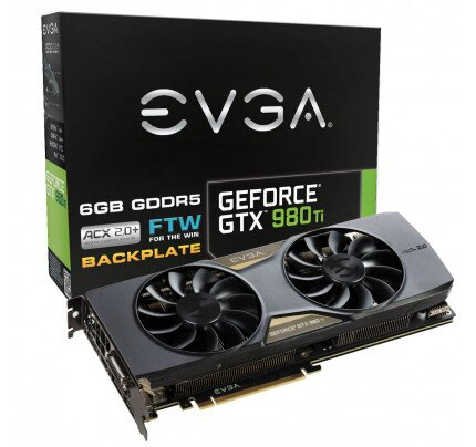 EVGA GeForce GTX 980 Ti FTW GAMING ACX 2.0+ Graphics Card