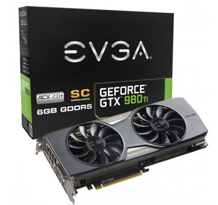 EVGA GeForce GTX 980 Ti SC GAMING ACX 2.0+ Graphics Card