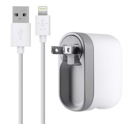Belkin Swivel Charger + Lightning ChargeSync Cable (10 Watt/2.1 Amp)