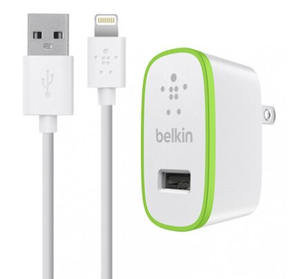 Belkin Home Charger with Lightning Cable (10 Watt/2.1 Amp)