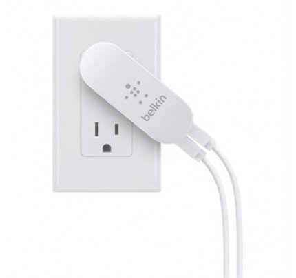 Belkin Dual Swivel Charger with Lightning to USB Cable (10 Watt/2.1 Amp Per Port)