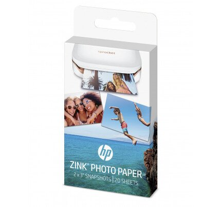 HP ZINK Sticky-Backed Photo Paper-20 sht/2 x 3 in