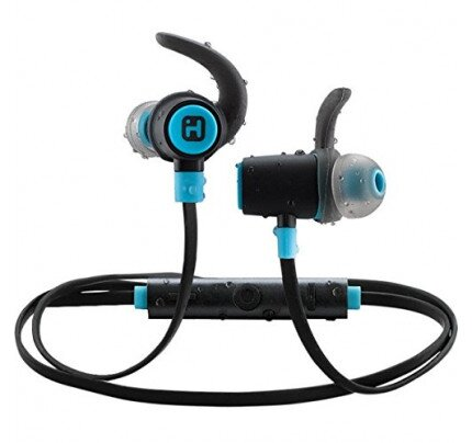 iHome iB73 Bluetooth 4.0 Wireless Water-resistant Sport Earphones with Mic, Remote and Sport Clips