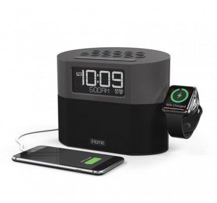 iHome iWBT400 Bluetooth Clock Radio + USB Charging + Apple Watch Charger