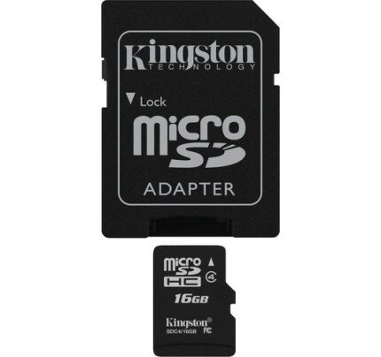 Kingston MicroSDHC Card - Class 4 with MicroSD Adapter