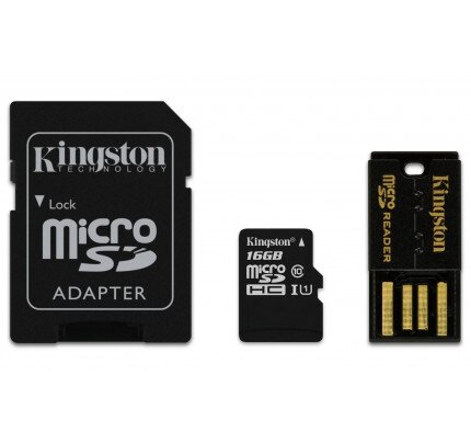 Kingston MicroSDHC/MicroSDXC Class 10 UHS-I Card with Mobility Kit