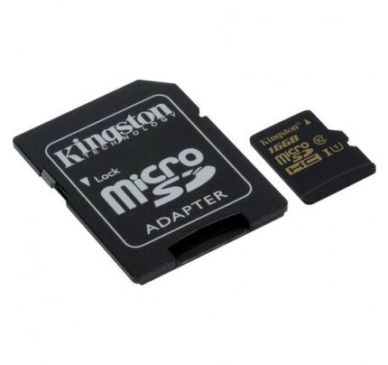 Kingston MicroSDHC/SDXC Card - Class 10 UHS-I with SD Adapter