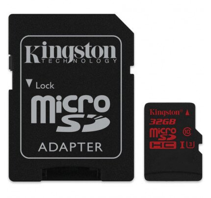 Kingston MicroSDHC/SDXC UHS-I U3 90R/80W with SD Adapter