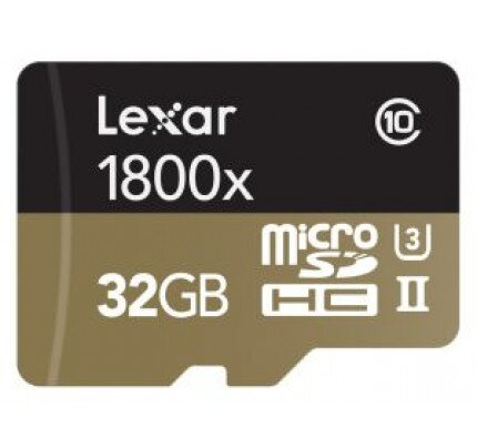 Lexar Professional 1800x MicroSDHC/MicroSDXC UHS-II Card