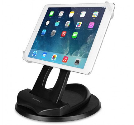 Macally 2-in-1 Swivel Desk Stand & Hand Strap Holder