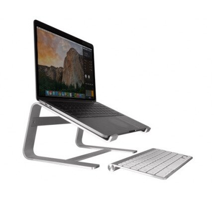 Macally Aluminum Horizontal Laptop Stand for Laptops and Macbooks up to 17""