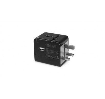 Macally Universal Power Plug Adapter with USB Port