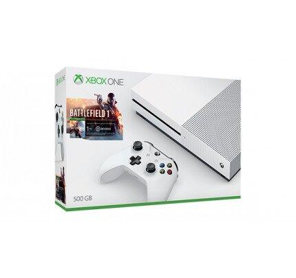 Microsoft Xbox One S 500B Console - Battlefield 1 Bundle