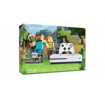 Microsoft Xbox One S 500GB Console - Minecraft Favorites Bundle